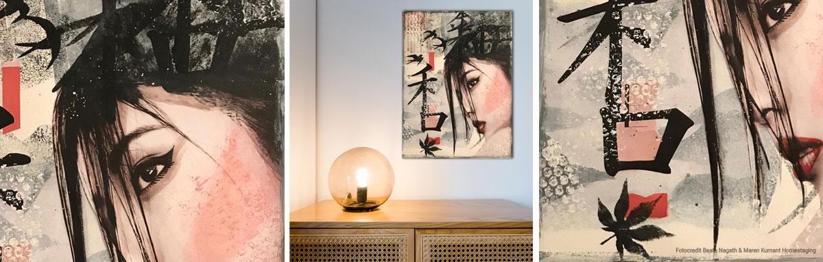 Asiatisches Wandbild Collage