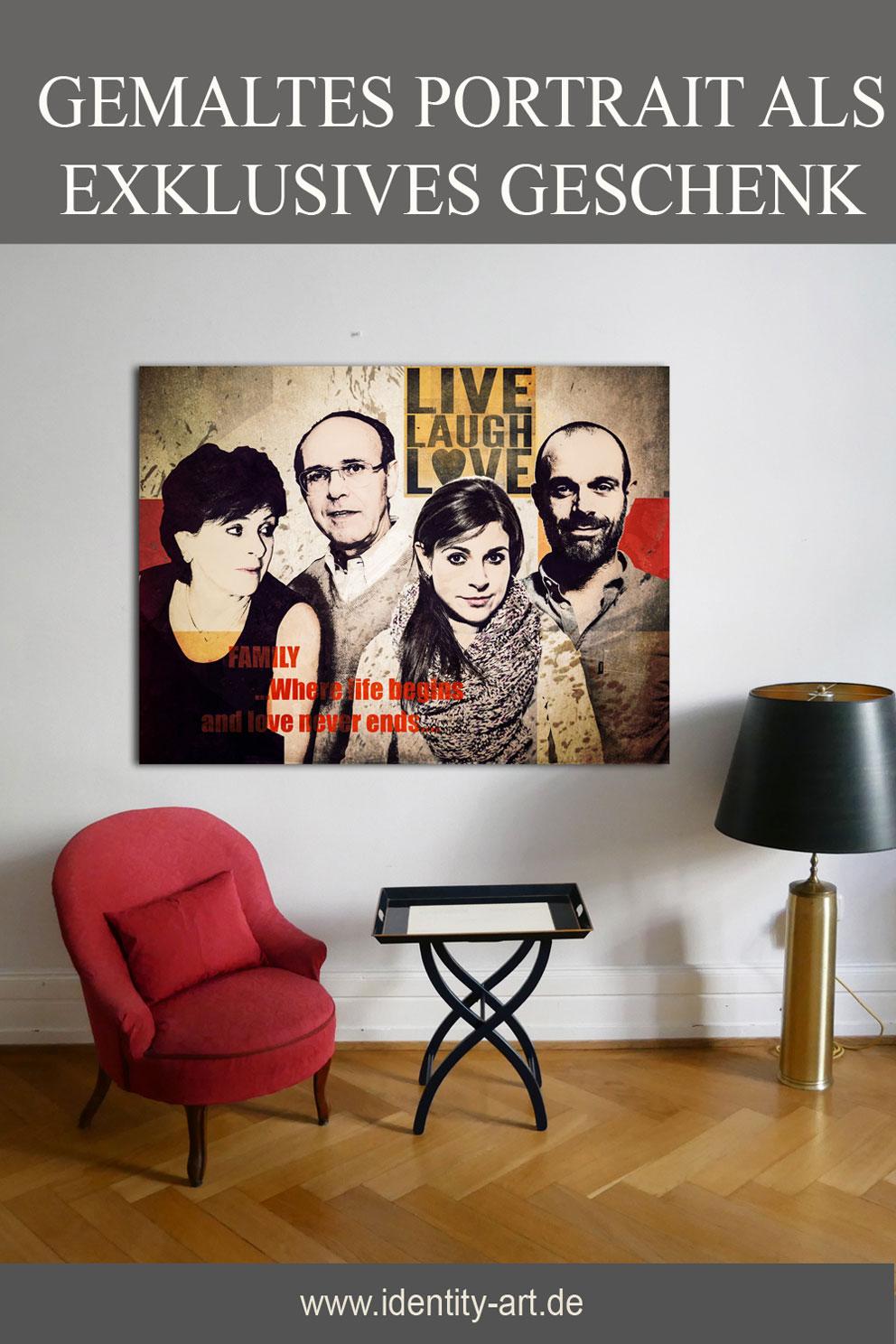 Besonderes Familienportrait