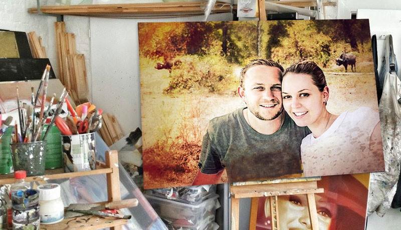Kunst zur Hochzeit schenken